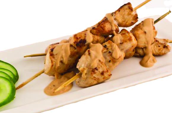 stekta nudlar med kyckling och grönsaker